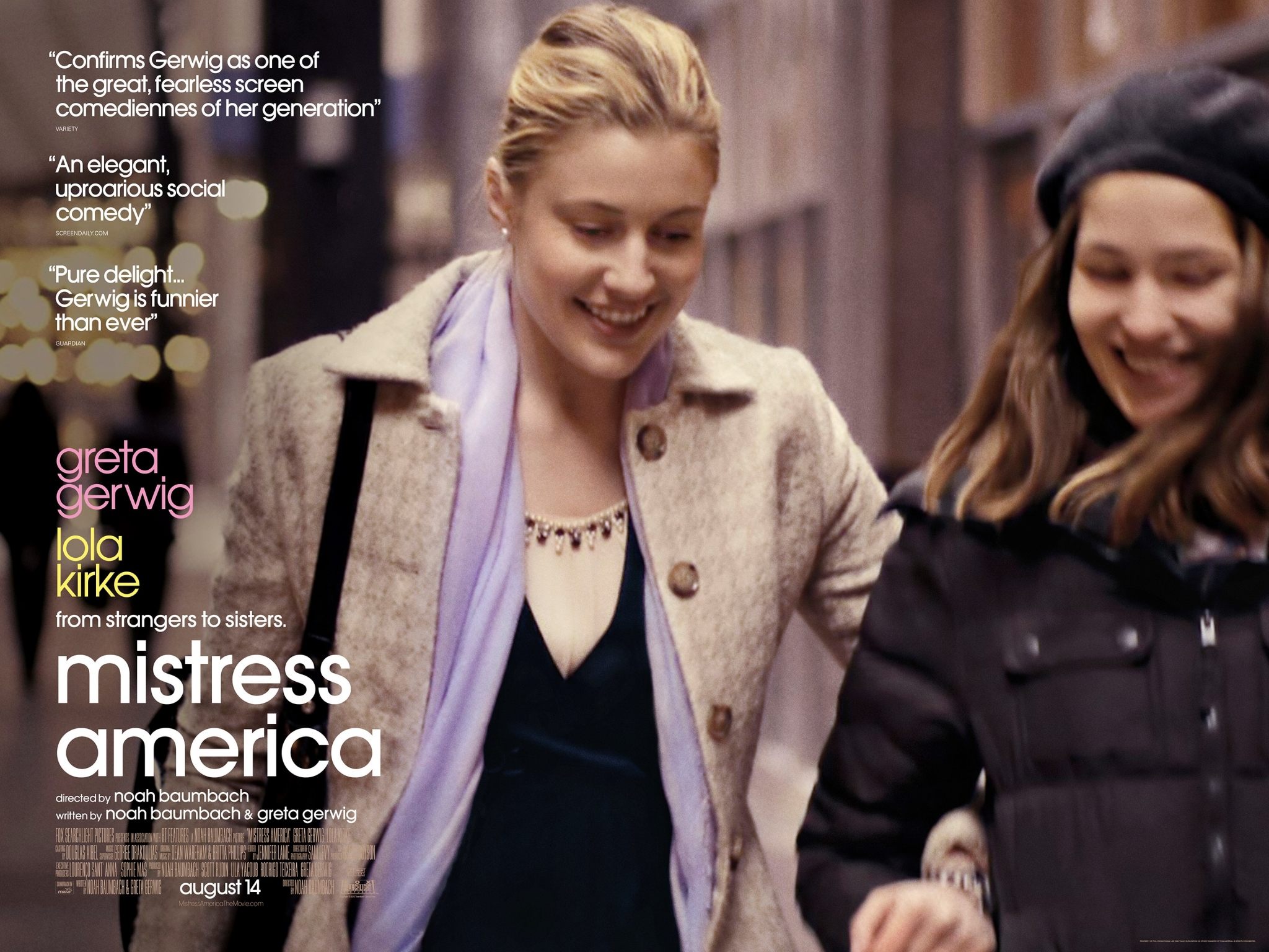 Road to Cinema Talks 'Mistress America' with Noah Baumbach, Greta Gerwig, and Lola Kirke