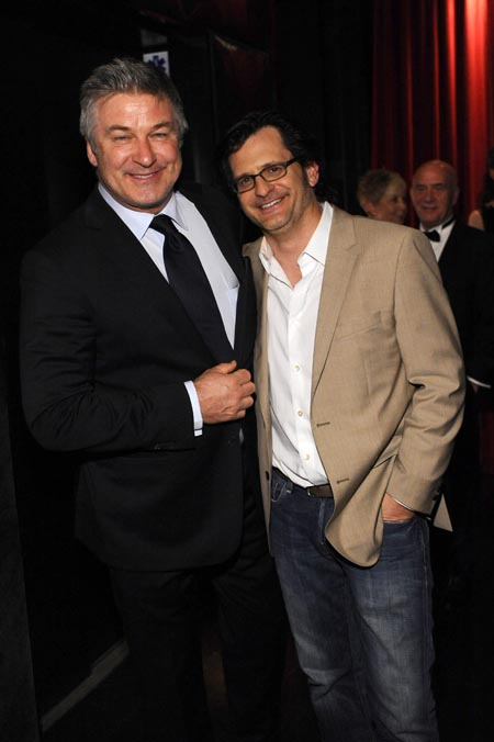 """HOLLYWOOD, CA - APRIL 10: Actor Alec Baldwin and radio personality Ben Mankiewicz attend the after party for the opening night gala screening of """"Oklahoma!"""" during the 2014 TCM Classic Film Festival at W Hollywood Hotel on April 10, 2014 in Los Angeles, California. (Photo by Stefanie Keenan/WireImage) *** Local Caption *** Alec Baldwin; Ben Mankiewicz"""